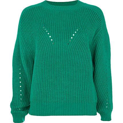 green cocoon jumper
