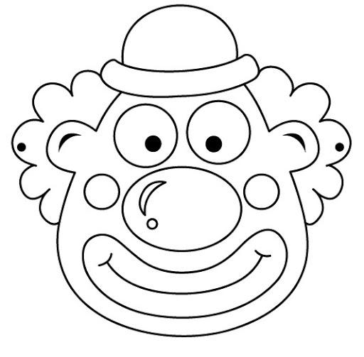 Caretas y Mascaras de Payasos para colorear e Imprimir | Material ...
