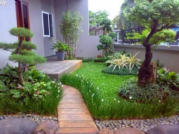 contoh gambar desain taman rumah