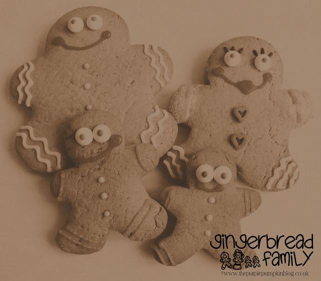 Gingerbread Family | The Purple Pumpkin Blog