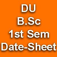 DU B.Sc Date Sheet 2015