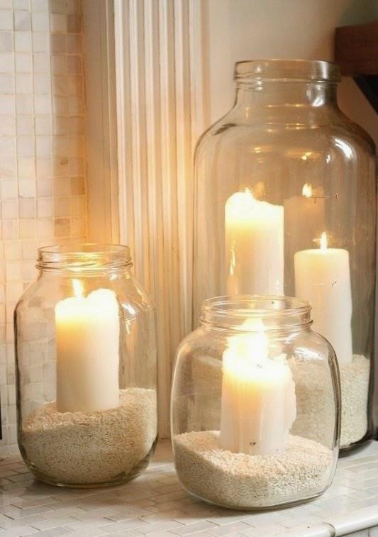 Mason Jar Candle with Sand