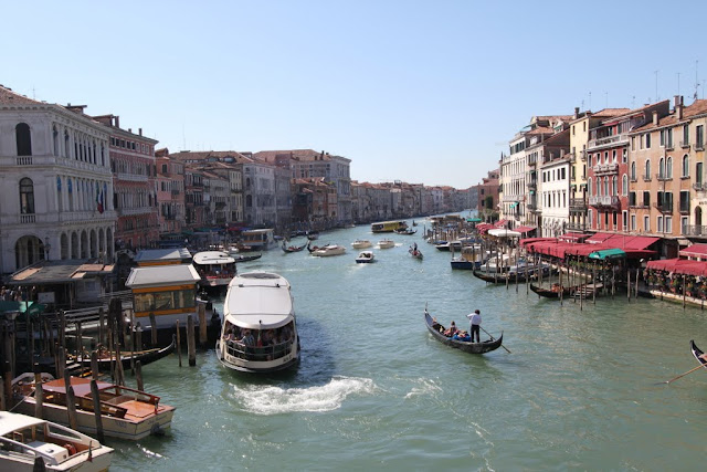 Photo 1- Grand Canal from Rialto Bridge in Venice, Italy