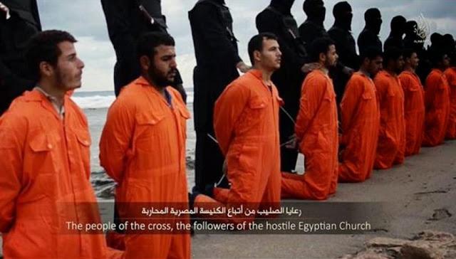 Φρικιαστικό βίντεο: Tζιχαντιστές αποκεφάλισαν 21 Αιγύπτιους - ISIS: «Ένα μήνυμα με αίμα στο έθνος με το Σταυρό»