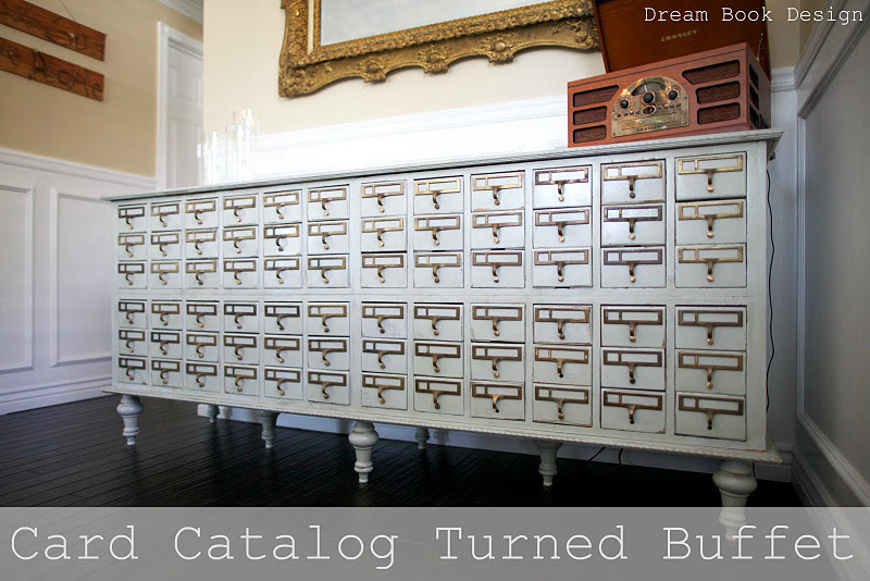DIY Card Catalog Buffet - Dream Book Design