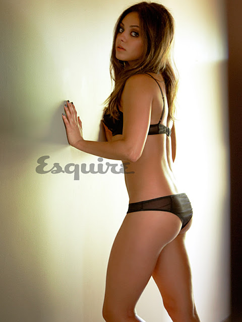 Mila Kunis Smoking hot in sexy underwear - Sexiest Woman Alive 2012 Photo Shoot by Esquire