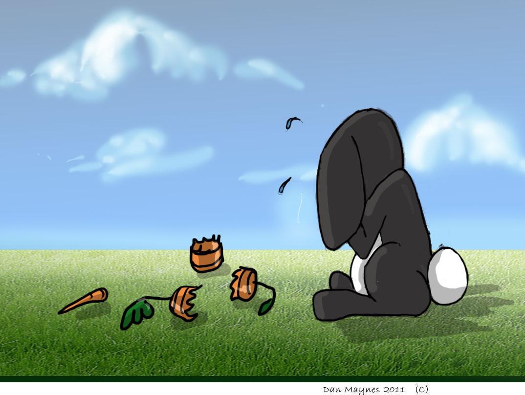 Sharp's sketches and artwork: A sad sad bunny