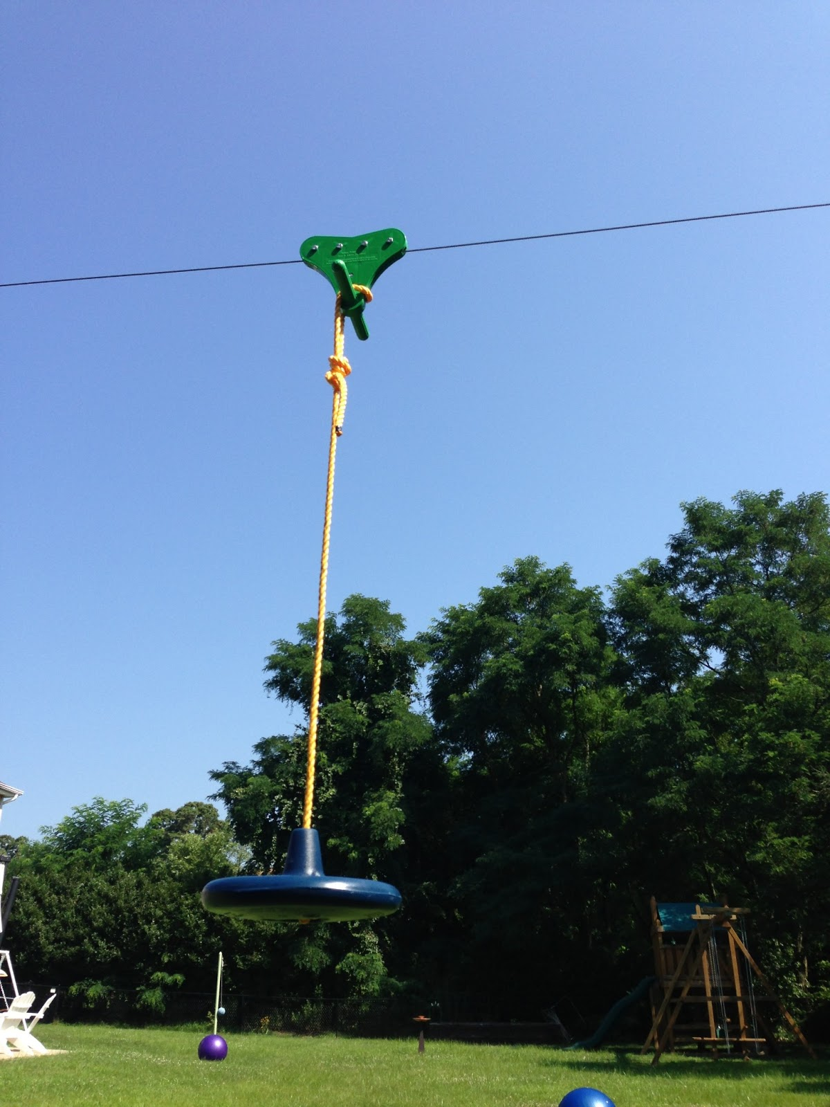 Backyard Zip Line: Zip-Line Build Pics: posts, chain, seat ...