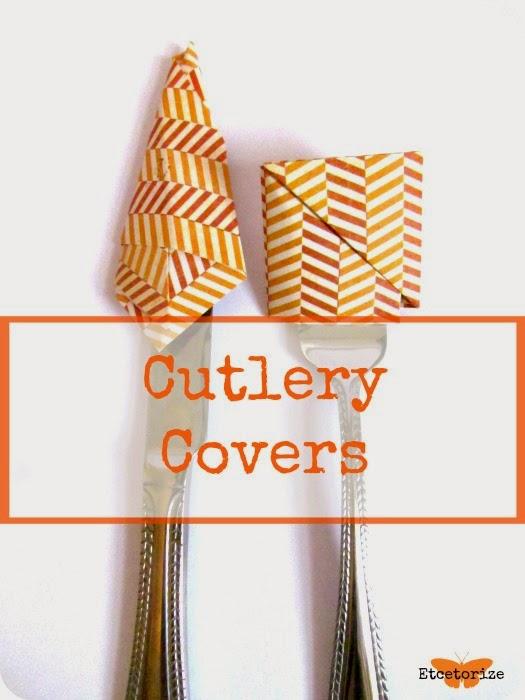DIY Cutlery Covers, Origami