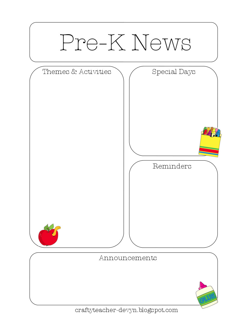 Sweet image in printable newsletter templates free