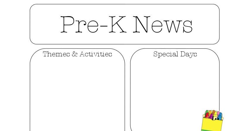 The Crafty Teacher Newsletter Templates – Preschool Newsletter Template