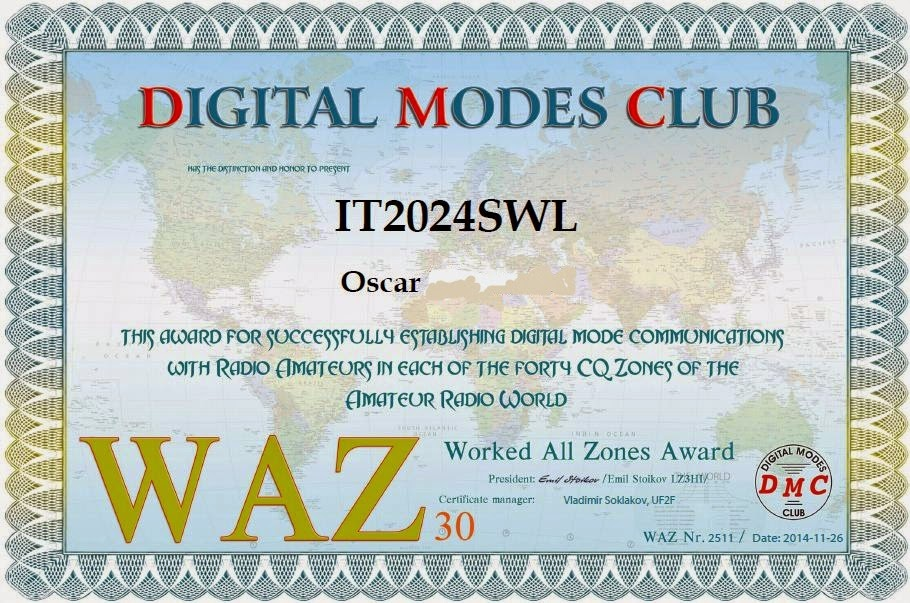 DMC Award 30 CQ Zones