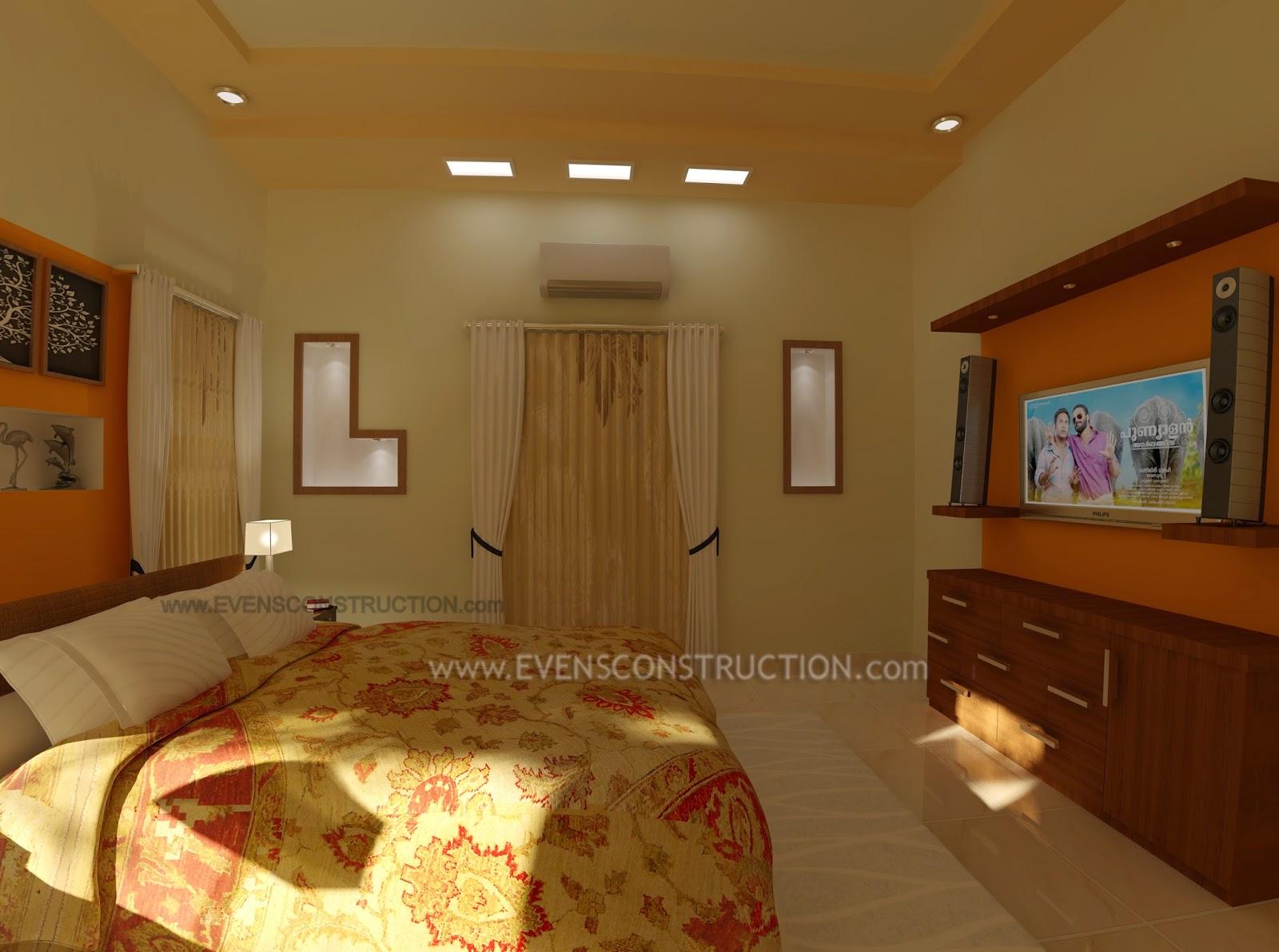 Evens Construction Pvt Ltd Modern Kerala Master Bedroom