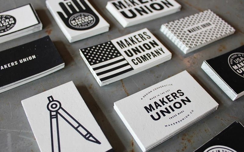 Good design makes me happy project love makers union business cards love these collect them all business cards designed by juke dugard for the makers union silkscreened the cards have a beautiful handmade feeling to reheart Gallery