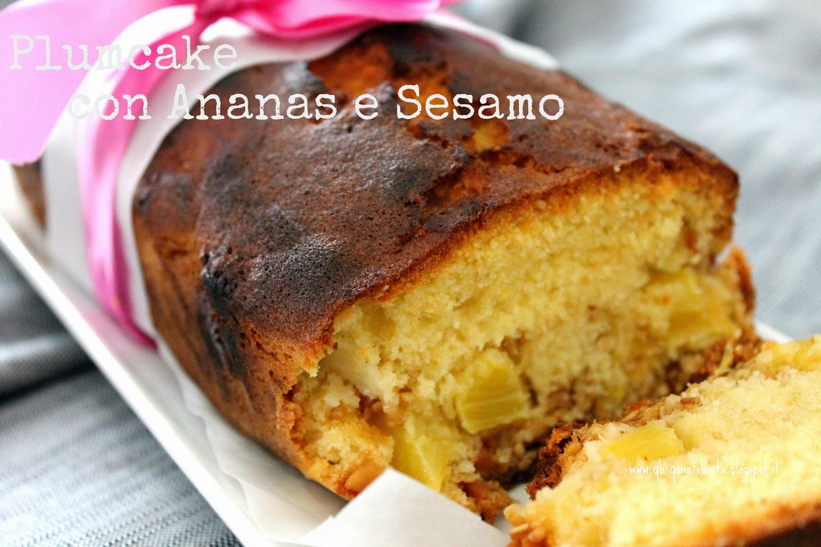Qb - Quanto Basta.:Plumcake con ananas e sesamo