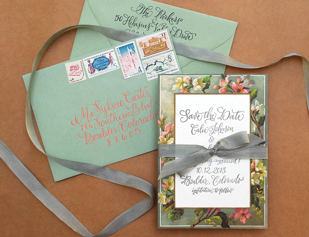 Antiquaria: Behind the Scenes | Vintage Floral Border Save the Date