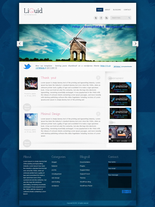 Liquid WordPress Theme