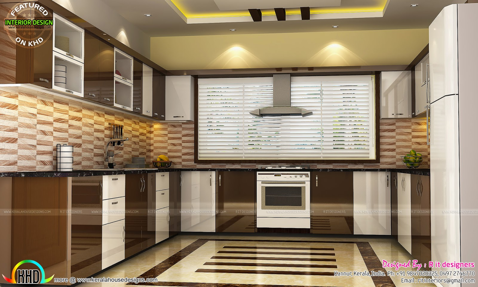 Kitchen living bedroom dining interior decor kerala for Kerala homes interior designs