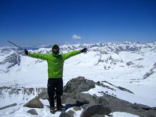 At the summit of Split Mountain.