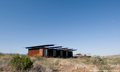 Shipping container homes cinco camp brewster county texas 5 container home - Container homes texas ...