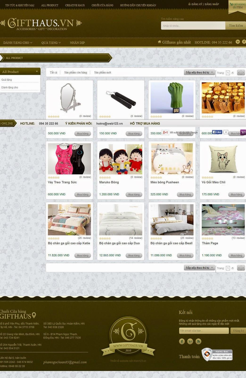 thiết kế web lưu niệm