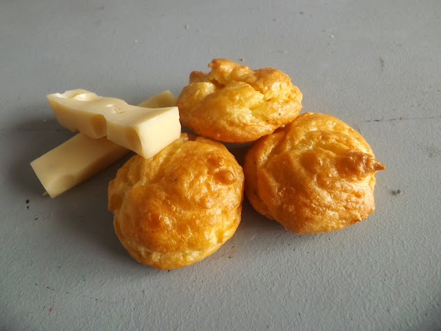 gougère, fromage, recette, muscade