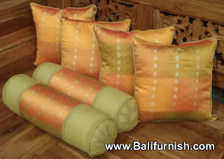 Satin cushion covers from Bali Indonesia