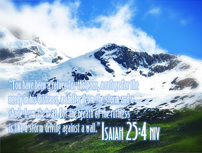 Isaiah 25:4 Free Christian Wallpaper