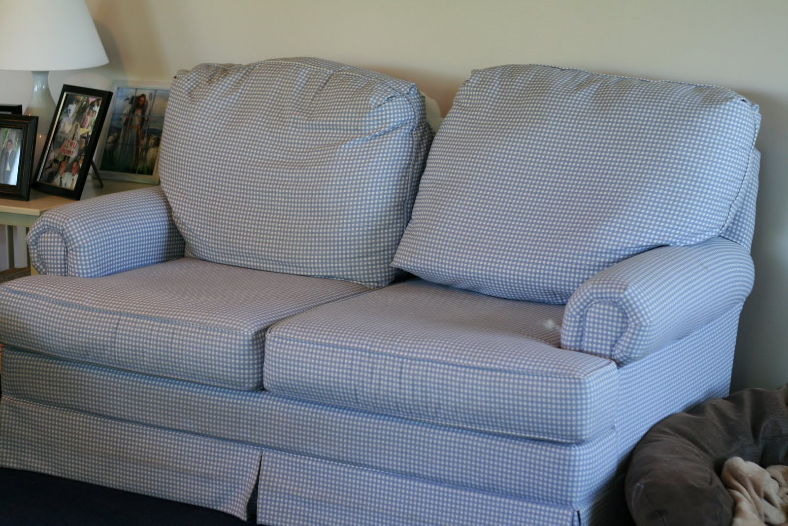 Custom slipcovers by shelley white couch and loveseat White loveseat slipcovers