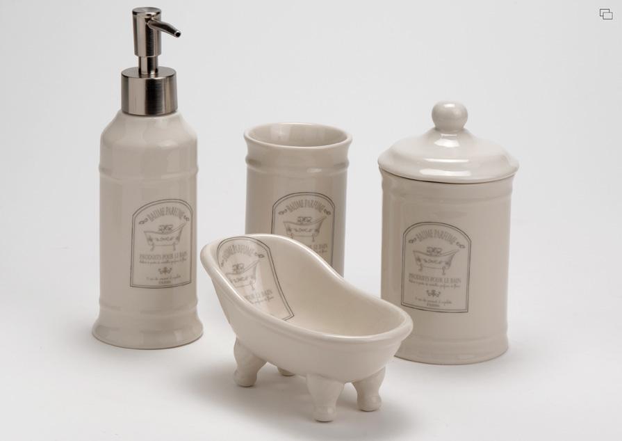 Set da bagno shabby design casa creativa e mobili ispiratori - Accessori bagno provenzale ...
