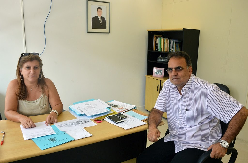 Secretária municipal de Planejamento, Silvana Pires, com o subsecretário estadual da Região Serrana, João Grilo: trabalho em parceria