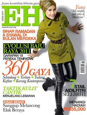 Yuna Cover Majalah EH! Ogos 2011