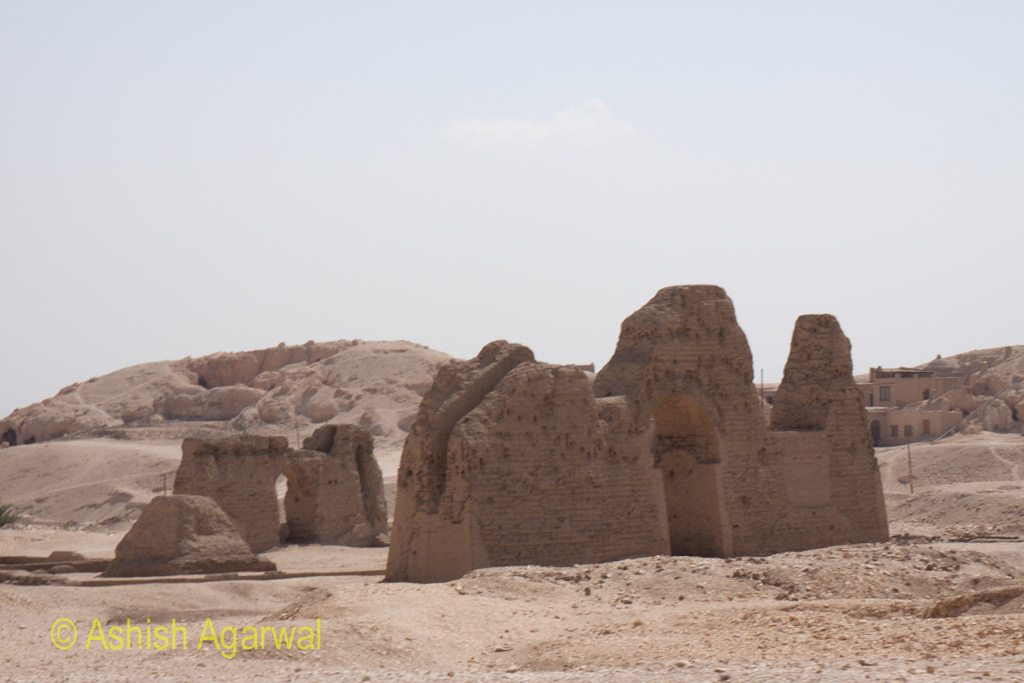 Structures around the Hatshepsut mortuary temple near Luxor