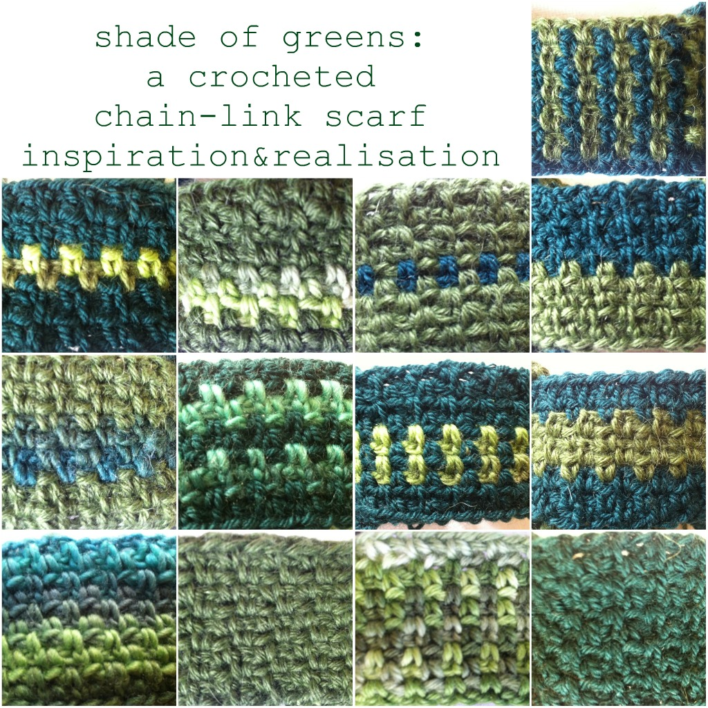 Knitting Pattern For Chain Link Scarf : inspiration and realisation: DIY fashion blog: crochet: a chain-link scarf