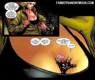 Ant-Man motorboating Janet Van Dyne Wasp