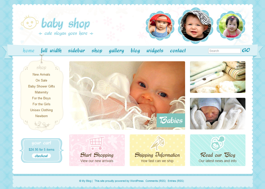 Websites specializing in baby clothes shopping and commerce. These online clothes shopping sites provide a wide variety of options for baby clothes, ranging in styles and sizes to suit every taste. Sites specializing in trendy clothes, vintage clothes, affordable fashions and the like are.