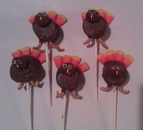 Choc marshmallow turkey treats
