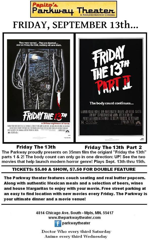 Friday the 13th 1980 friday the 13th part 2 double feature on 35mm