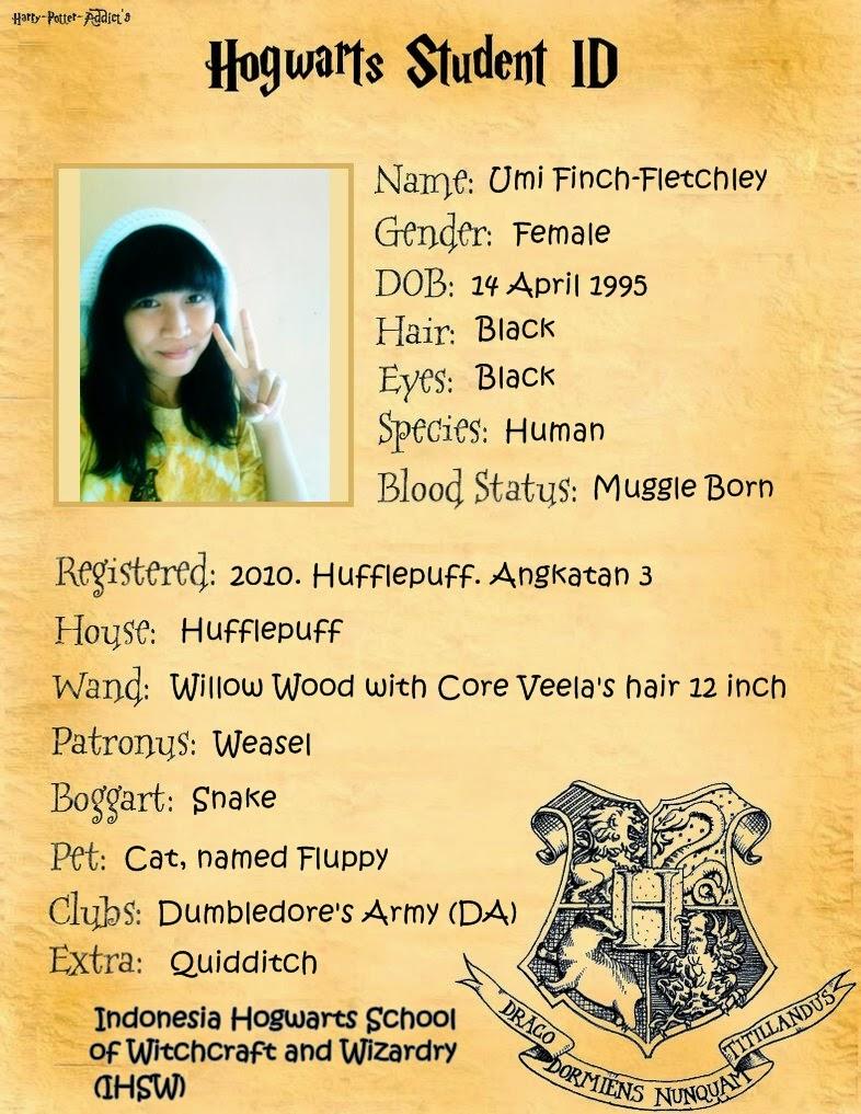 My Hogwarts ID card