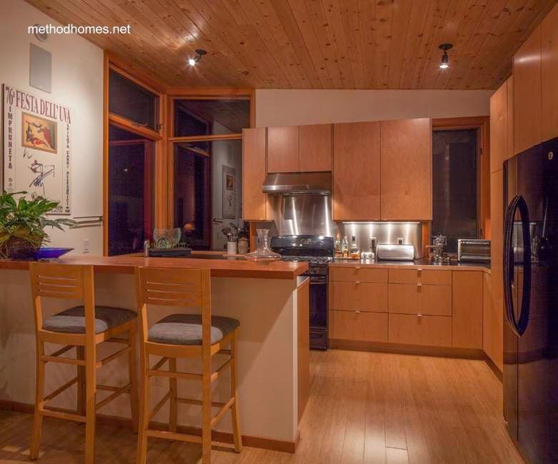 Cocina de cabaña prefabricada contemporánea