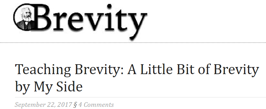 How I Use Brevity Journal when teaching Creative Nonfiction