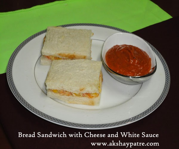 bread sandwiches in a serving plate
