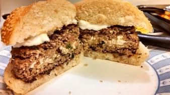 Zucchini & Feta Stuffed Lamb Burger #GetStuffed