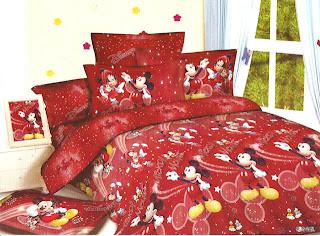 Sprei Anak Motif Mickey Mouse Merah