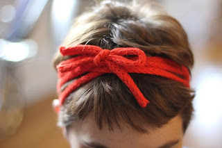 image knitted icord headband wrapped