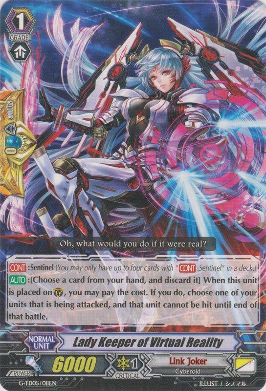 my gundam world cardfight vanguard quotlink jokerquot deck