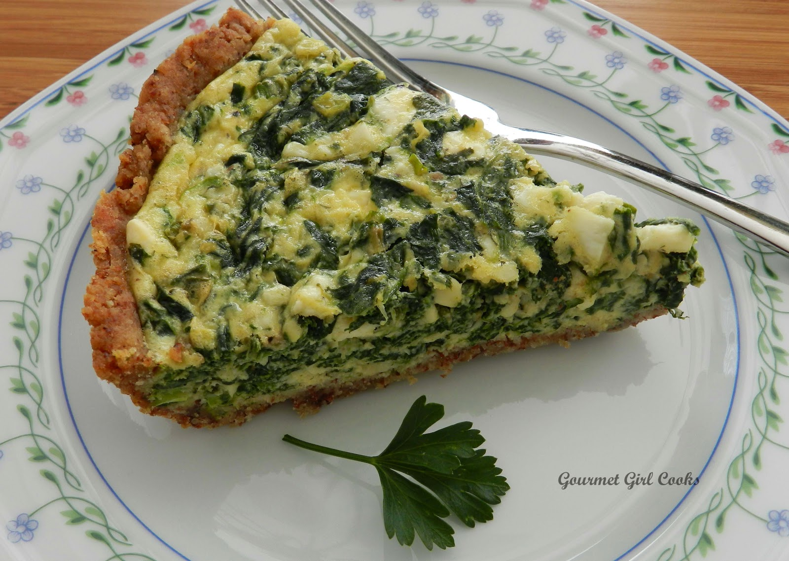 Gourmet Girl Cooks: Greek Style Spinach-Feta Pie