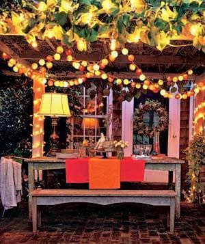 hanging patio lights