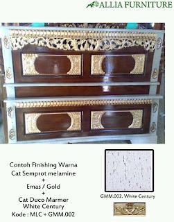 Melamine Kombinasi Emas dan Marmer White Century