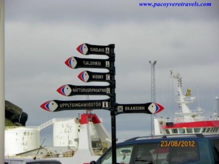 Guia de Heimaey (Vestmannaeyjar):  transporte e historia